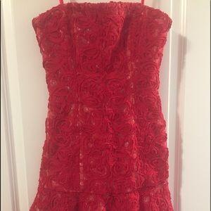 New bcbg lace strapless dress